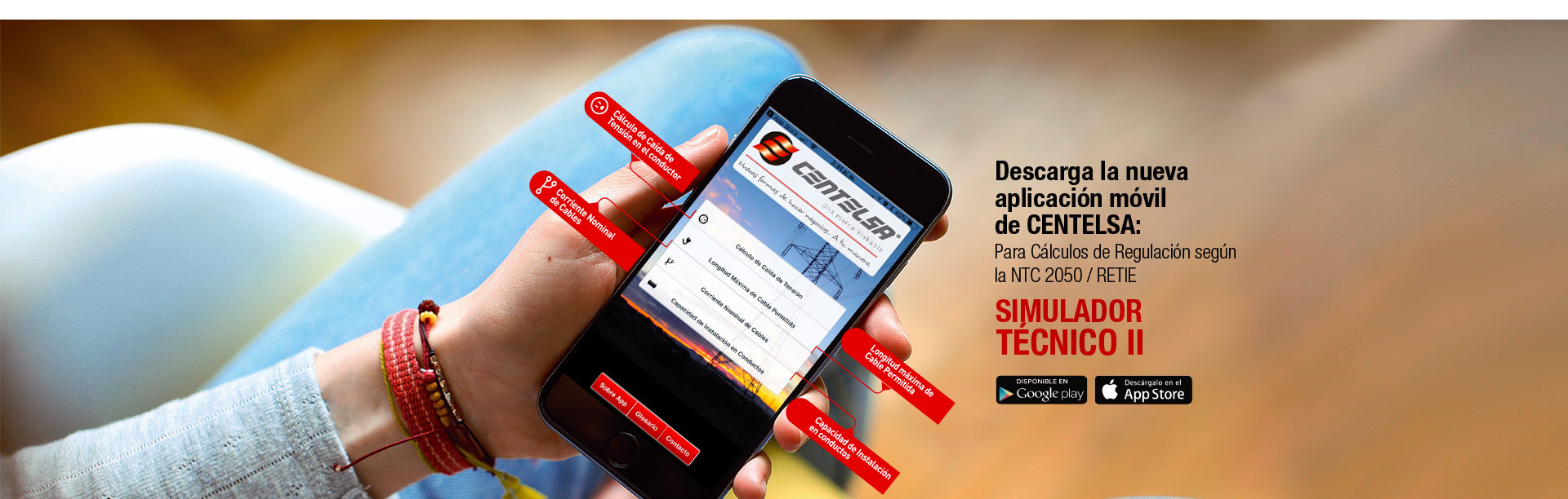 centelsa app - colombia, perú, ecuador